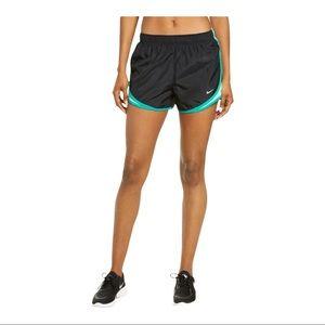 Nike Dri-Fit Tempo Running Shorts Black Green L